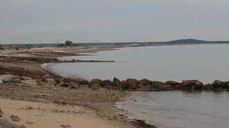 Plymouth Beach, Massachusetts - The Plymouth Barrier Beach, as seen from Plymouth Beach village.
