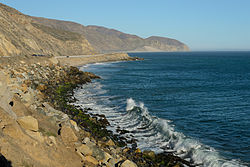 View of Pacific Ocean at Point Mugu