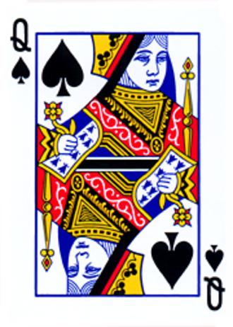 Queen of spades - Queen of spades from standard deck