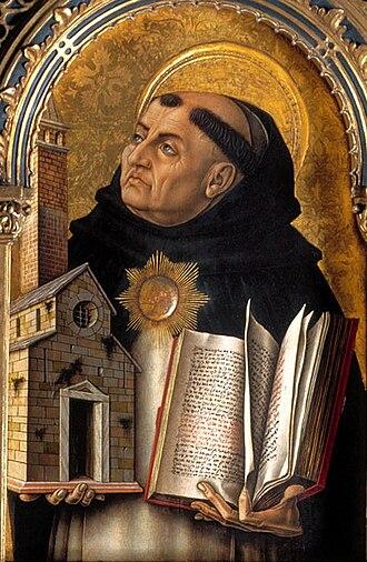 Political philosophy - Image: Polittico del 1476, s. tommaso d'aquino