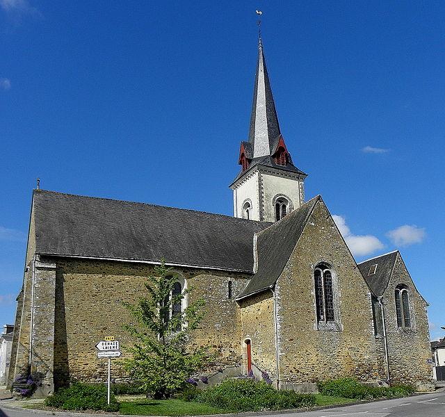 Église Saint-Martin de Pommerieux (53). Flanc sud.
