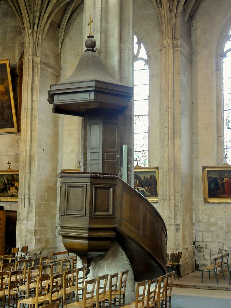 fichier pont sainte maxence 60 glise sainte maxence chaire pr cher jpg wikip dia. Black Bedroom Furniture Sets. Home Design Ideas