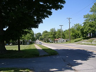 Port Fulton, Indiana - Port Fulton's Main Street, as it appears today as part of Jeffersonville.