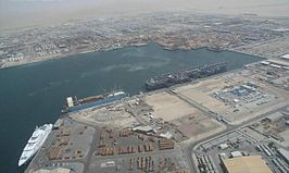 De haven van Jebel Ali op 1 mei 2007.