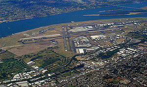 Portland International Airport - Image: Portlandinternationa lairportfromtheair