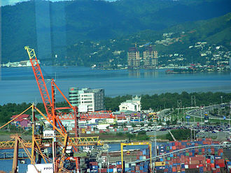 Port of Spain - The Port of Port of Spain (PPOS) lies on reclaimed land. Much development still occurs on new land reclaimed near Invaders Bay (Movietowne, Invaders Bay Tower, Marriott) and in the surrounding Northern Range Mountains.