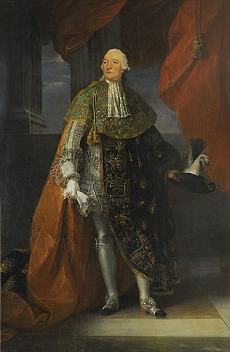Louis Philippe II, Duke of Orléans - Image: Portrait of Louis Philippe d'Orléans, Duke of Orléans (known as Philippe Égalité) in ceremonial robes of the Order of the Holy Spirit by Antoine François Callet