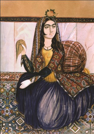 Mirza Kadym Irevani - Image: Portrait of sitting woman by Irevani