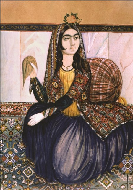 Portrait of sitting woman by Irevani.jpg