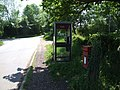 Post Box and Telephone Box at Junction in Themelthorpe - geograph.org.uk - 454493.jpg