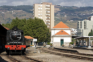 Peso da Régua - A historic train in the railway station of Peso da Régua