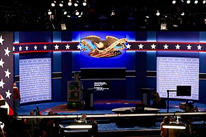 United States presidential debates, 2016 - The set of the first debate