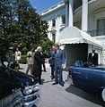 President John F. Kennedy Greets President Dr. Sarvepalli Radhakrishnan of India Before Motorcade.jpg