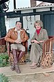 President Ronald Reagan during an interview with Barbara Walters at Rancho Del Cielo during Thanksgiving trip.jpg