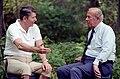 President Ronald Reagan meeting with George Shultz.jpg
