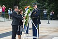 President of the Republic of the Marshall Islands, H.E. Hilda C. Heine, Participates in a Public Wreath-Laying Ceremony at Arlington National Cemetery (36382138003).jpg