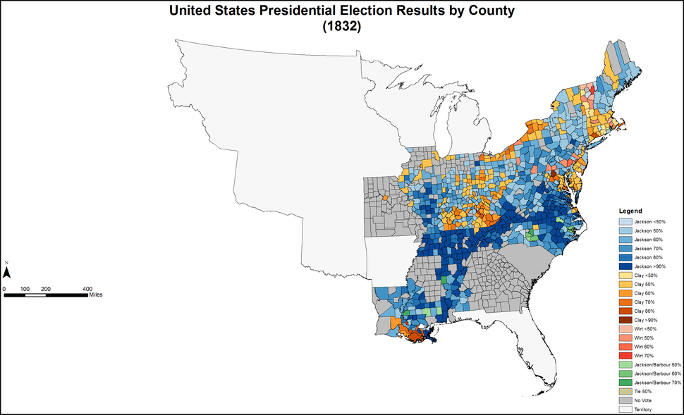 PresidentialCounty1832Colorbrewer