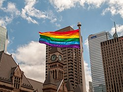 Pride Flag Raising Ceremony Toronto 2014.jpg