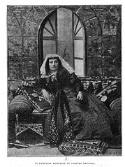 Princess Nizheradze in national costume (de Baye).JPG