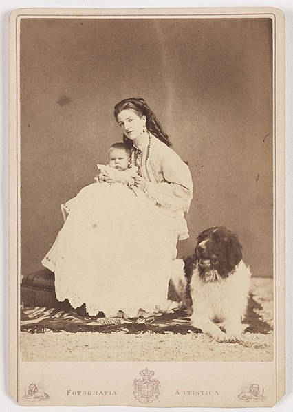 File:Princess of Piedmont, with her Baby and Dog (3084877082).jpg