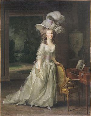 Princess Louise of Orange-Nassau - Portrait in 1790 probably by Johann Friedrich August Tischbein