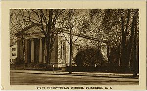 Nassau Presbyterian Church - First Presbyterian Church on a vintage postcard.
