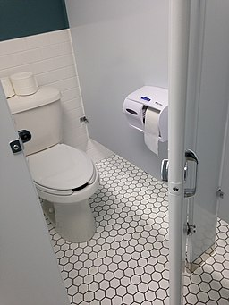Public bathroom toilet