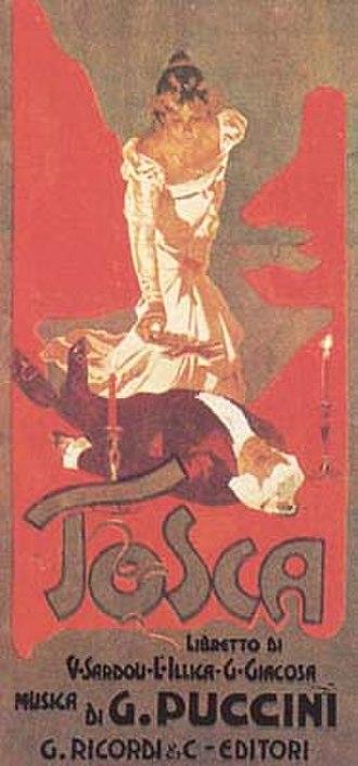 Giacomo Puccini - Original poster for Puccini's Tosca