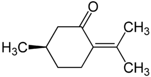 Pulegone - Image: Pulegone Structural Formulae