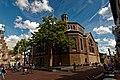 Purmerend - Hoogstraat - Kaasmarkt - View East on Koepelkerk 1853 by W.A.Scholten.jpg