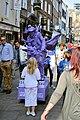 Purple Cyclist in Stonegate - geograph.org.uk - 2567388.jpg
