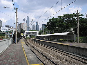 Putra Komuter station - The Putra Komuter halt prior to a canopy upgrade in mid-2007.