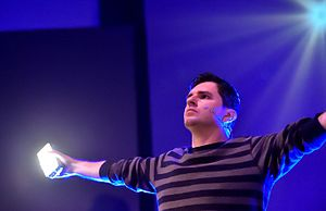 Alan Melikdjanian - Melikdjanian performing as Captain Disillusion's assistant at QED 2016.