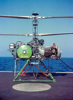 Boeing T50 - A QH-50D anti-submarine drone aboard the USS Allen M. Sumner (DD-692) in the late 1960s, with the T50 engine visible on the right