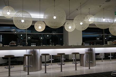 The Qantas International Business Class Lounge at Sydney Airport. Qantas International Business Class Lounge - Sydney Airport1.JPG