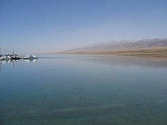 Qinghai Lake - Image: Qinghai Lake May 2006