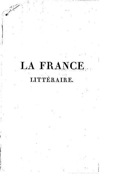 File:Quérard - La France littéraire, t. 7, 1835.djvu