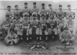 Quebec Braves - Quebec Athletics Team Photo 1941