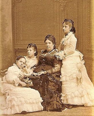 Isabella II of Spain - Isabella II with her three youngest daughters Pilar, Paz, and Eulalia