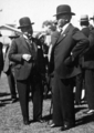 Queensland State Archives 3834 Sir James Blair Chief Justice and Sir Isaac Isaacs Governor General at RNA Show Official Opening 1931.png
