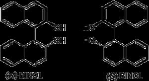 Struktur von 1,1′-Bi-2-naphthol