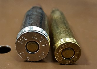 .30 Remington AR - The .30 Remington AR cartridge has a significantly wider diameter than the .223 Remington.