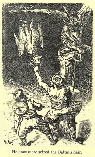 Baital Pachisi - Ernest Griset's depiction of Vikram and the Baital in Richard Francis Burton's 1870 retelling of the story.