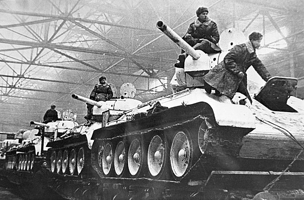 RIAN archive 1274 Tanks going to the front