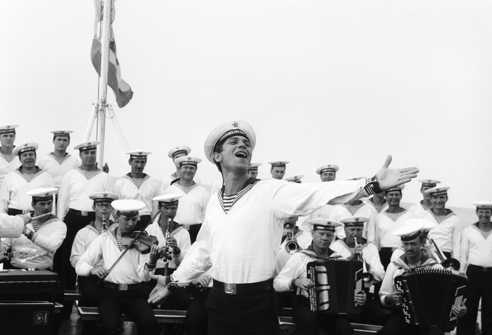 RIAN archive 53469 Order of Red Banner Pacific Fleet Company performing