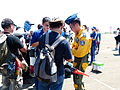ROCAF Major Motion Chou Signing on Booklet for Visitor 20130810.jpg