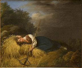 A Resting Harvest Girl