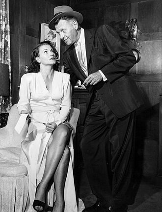 Ralph Bellamy - Gloria McGhee and Ralph Bellamy in Man Against Crime (1953)