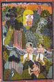 Rama, Sita, Lakshmana and Hanuman in the forest..jpg