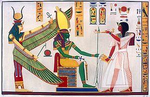 Giuseppe Angelelli - Rameses III censing and libating